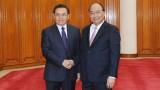 阮春福总理会见来访的老挝建国阵线中央委员会主席赛宋蓬·丰威汉