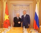 Tổng Bí thư Nguyễn Phú Trọng hội kiến Chủ tịch Duma Quốc gia Nga