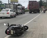Va chạm với xe container, một nam thanh niên chết tại chỗ