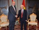 Tổng Bí thư Nguyễn Phú Trọng tiếp Chủ tịch Đảng Công nhân Hungary