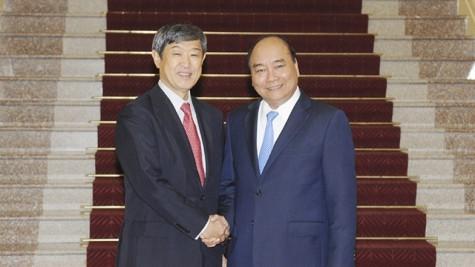 阮春福总理会见日本国际协力机构主席