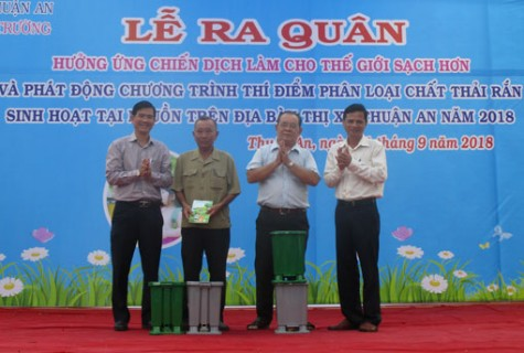 TX.Thuận An: Ra quân hưởng ứng Chiến dịch làm cho thế giới sạch hơn năm 2018