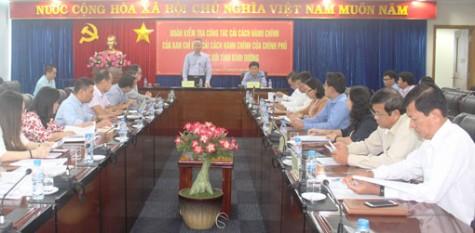 Đoàn kiểm tra công tác cải cách hành chính của Chính phủ làm việc tại Bình Dương