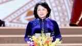 越南国家副主席邓氏玉盛担任代理国家主席职务