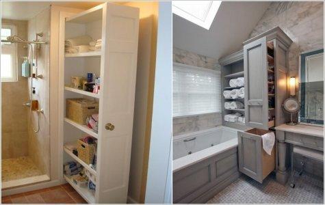Nội thất thông minh cho phòng tắm chật hẹp