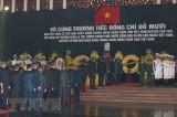 Các đoàn đại biểu tiếp tục vào viếng nguyên Tổng Bí thư Đỗ Mười