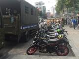 Lực lượng CSGT Công an tỉnh: Tạm giữ hàng chục môtô vi phạm luật giao thông