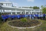 Các tổ chức đoàn trường Trung cấp tỉnh thực hiện công trình Vườn hoa thanh niên