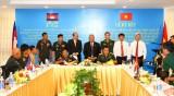 Ký kết Biên bản hợp tác giữa Bộ Chỉ huy Quân sự tỉnh với Tiểu khu Quân sự tỉnh Kandal, Kratie và Quân khu 2 (Campuchia)