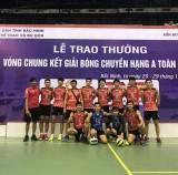 Đội bóng chuyền VLXD Bình Dương thăng hạng đội mạnh toàn quốc