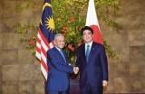 Japanese, Malaysian PMs hold talks