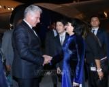 Chủ tịch Hội đồng Nhà nước Cuba bắt đầu thăm chính thức Việt Nam