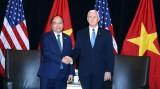 越南政府总理阮春福与美国副总统举行会晤
