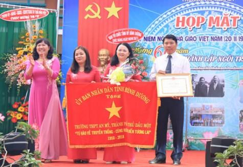 Trường THPT An Mỹ: Họp mặt Ngày Nhà giáo Việt Nam và kỷ niệm 60 năm thành lập trường