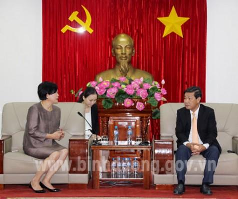 Ông Trần Thanh Liêm, Chủ tịch UBND tỉnh tiếp Tổng Lãnh sự Thái Lan tại TP.Hồ Chí Minh