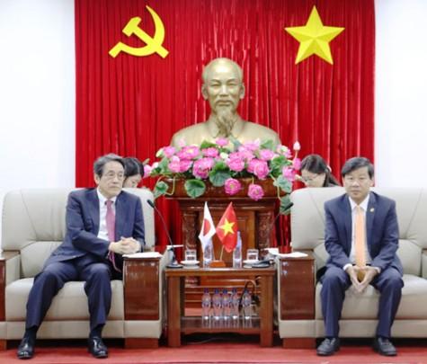 Lãnh đạo tỉnh tiếp Đại sứ đặc mệnh toàn quyền Nhật Bản tại Việt Nam