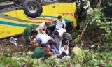 Xe khách chở 23 người lao xuống đèo Hải Vân