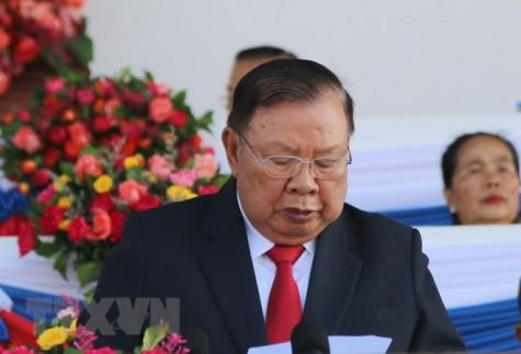 Lào tổ chức trọng thể míttinh kỷ niệm 70 năm Ngày thành lập Quân đội