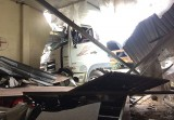 Xe container tông vào quán ăn, nhiều người thoát chết