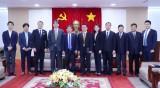 平阳省领导会见日本经济、工业和贸易合作局代表团