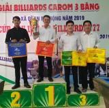 Open Di An three-cushion carom billiards tournament concludes