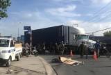 Nam thanh niên đi xe máy bị xe container cán chết