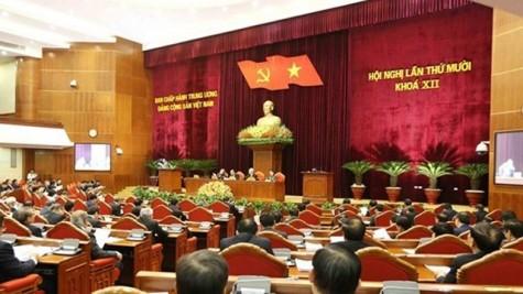 越共第十二届中央委员会第十次全体会议闭幕