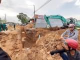 Sập công trình cống nước, một công nhân tử vong
