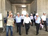 平阳省领导检查医院项目和一些工程施工情况