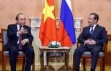 Thủ tướng Nguyễn Xuân Phúc và Thủ tướng LB Nga đồng chủ trì họp báo
