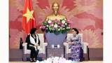 越南国会主席阮氏金银会见古巴总检察长