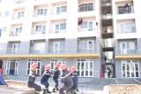Diễn tập phương án chữa cháy và cứu nạn, cứu hộ tại chung cư Hiệp Thành