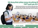 Vật dụng được phép mang vào phòng thi THPT quốc gia