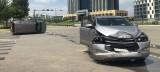 Va chạm giữa 2 ôtô, nhiều người may mắn thoát nạn