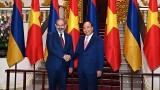 越南政府总理阮春福与亚美尼亚总理举行会谈
