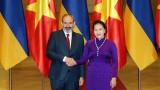 越南国会主席阮氏金银会见亚美尼亚总理尼科尔•帕什尼扬
