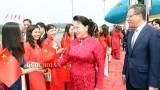越南国会主席阮氏金银抵达北京 继续正式访华之行