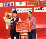 Cho Myung Woo (Hàn Quốc) vô địch giải Billiards Carom 3 băng quốc tế Bình Dương