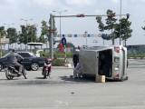 2 vụ tai nạn giao thông, 1 xe 4 chỗ lật nghiêng, 1 người tử vong