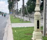 Hàng loạt cột đèn bị mất nắp chắn hộp điện