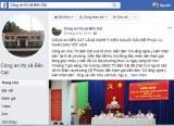 Lập Facebook để thông tin tình hình an ninh trật tự và tiếp nhận tin báo tố giác tội phạm
