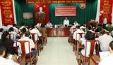 Đoàn công tác Tỉnh ủy Bình Dương làm việc với Ban Thường vụ Thị ủy Thuận An