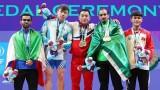 2019举重世锦赛:越南越南选手阮陈英俊夺得银牌