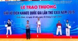 Binh Duong wins gold medal at natiional karatedo champs