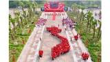 """数千名青年代表在富寿省雄王庙拼成""""祖国地图"""""""