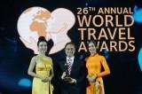 Doanh nghiệp Việt nhận 3 giải thưởng du lịch thế giới