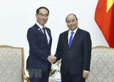 Thủ tướng Nguyễn Xuân Phúc tiếp Thống đốc tỉnh Saitama của Nhật Bản