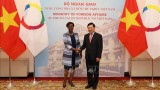 越南政府副总理兼外交部长范平明与法语国家国际组织秘书长举行会谈