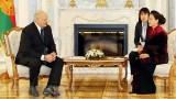 越南国会主席阮氏金银会见白俄罗斯总统