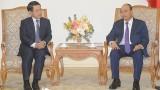 越南政府总理阮春福会见老挝外交部部长